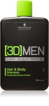 Schwarzkopf Professional [3D] MEN shampoing et gel de douche 2 en 1